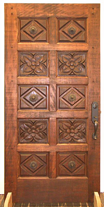 Hand Carved Rustic Fir Door