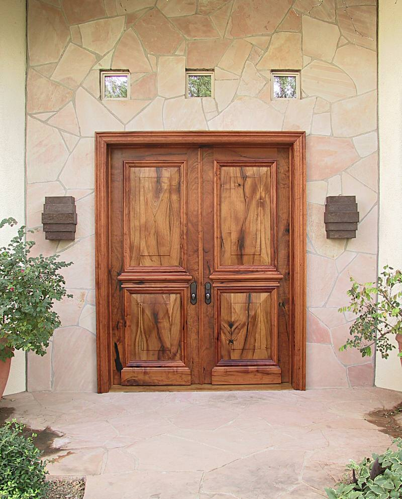 Elegant mesquite entry doors wgh woodworking for Elegant front doors