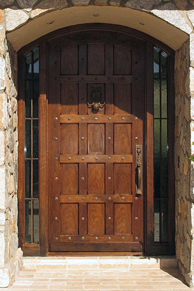 Tuscany style entry door